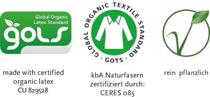 durch GOLS und GOTS zertifiziert, rein pflanzlich