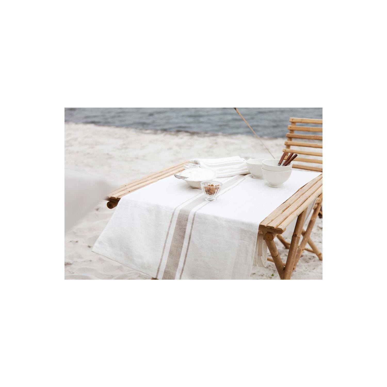 tischw sche kalahari aus reinem leinen stripe. Black Bedroom Furniture Sets. Home Design Ideas