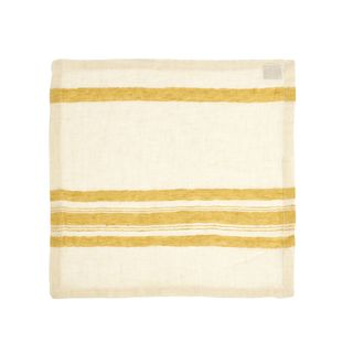Leinen Servietten The Library Stripe 42x42 cm (6-er Set)